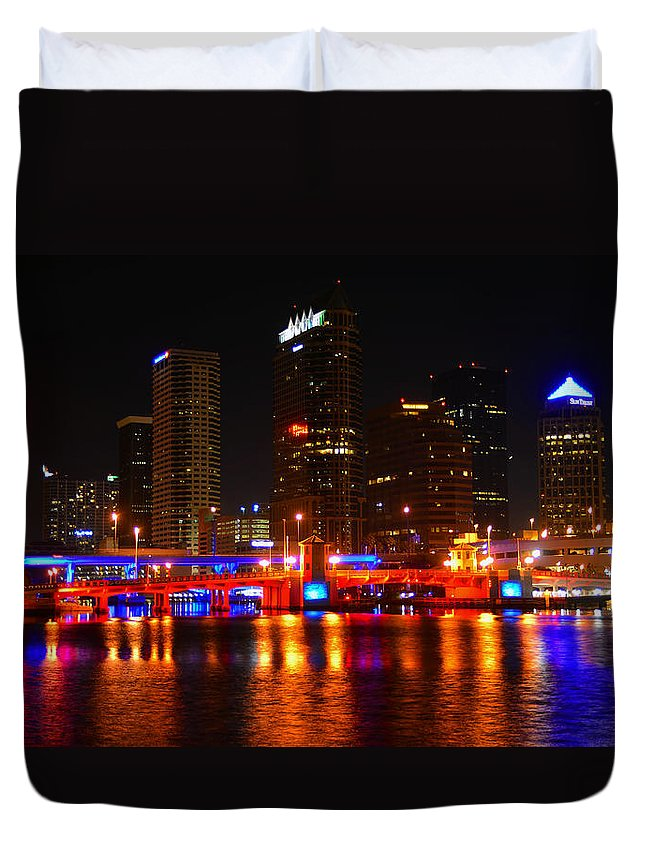 City Duvet Cover featuring the photograph City Of Patriots by David Lee Thompson