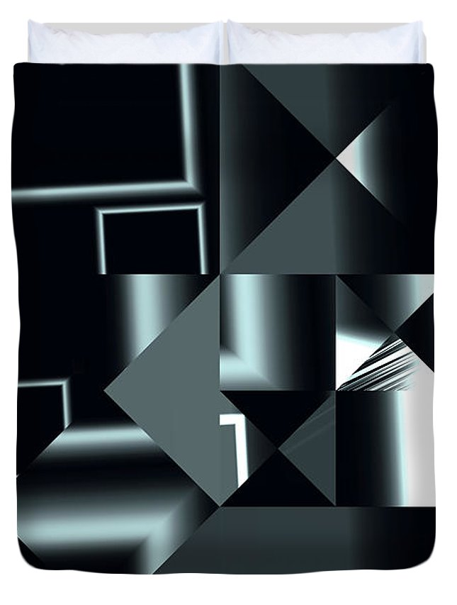 Abstract Duvet Cover featuring the digital art City Smart by Judi Suni Hall