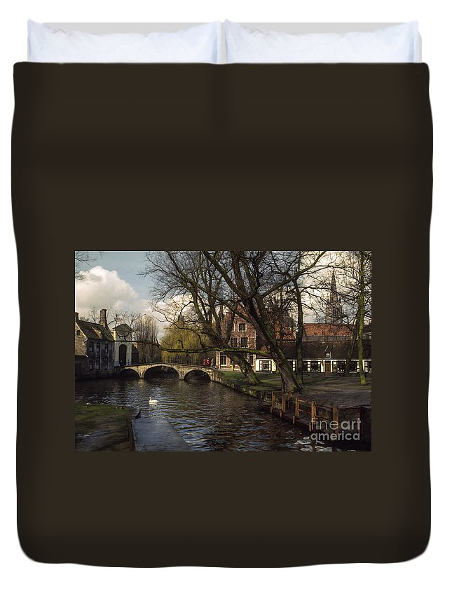Bruges Duvet Cover featuring the photograph City Stroll by Bob Phillips