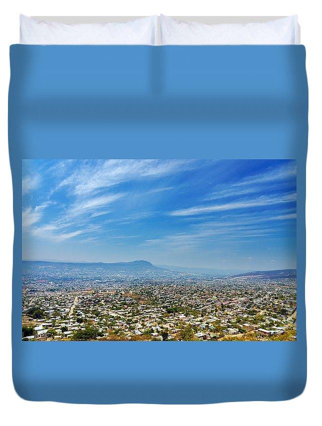 Building Duvet Cover featuring the photograph Cityscape Of Tuxtla Chiapas by Jess Kraft