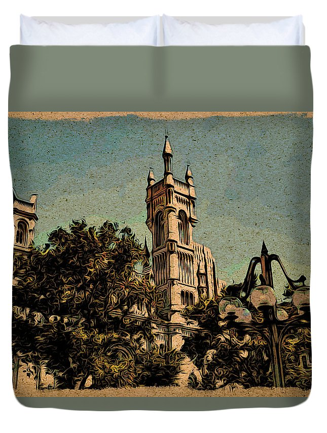 Philadelphia Duvet Cover featuring the photograph Cityview by Alice Gipson