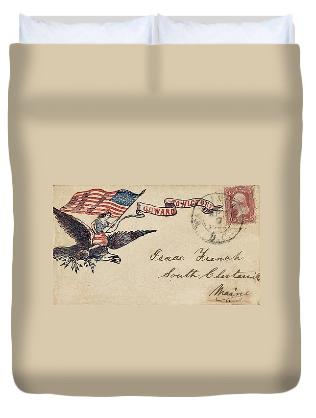 Civil War Duvet Cover featuring the photograph Civil War Letter 18 by Andrew Fare