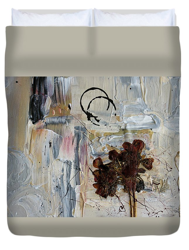 Flower Duvet Cover featuring the painting Clafoutis D Emotions - P06at01 by Variance Collections