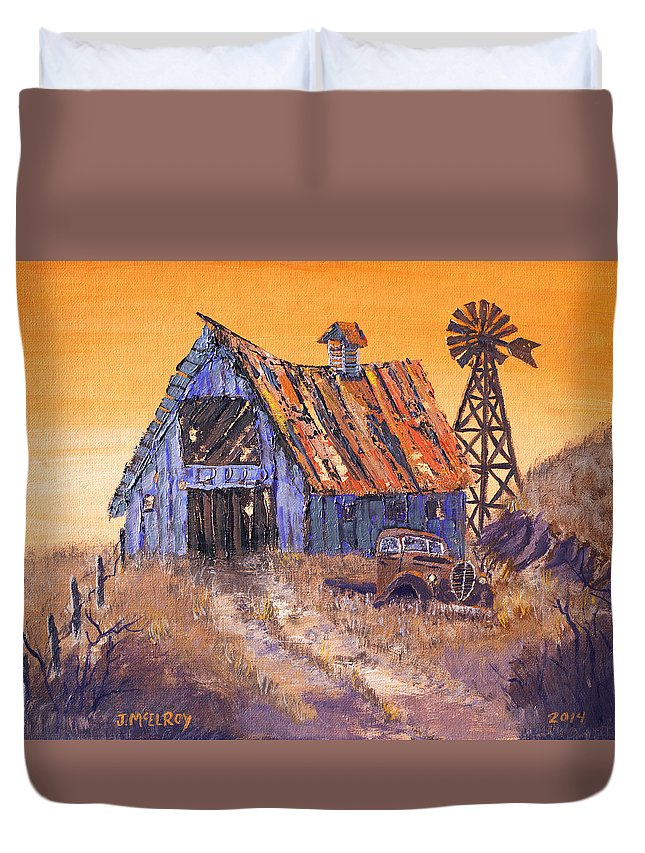 Barn Duvet Cover featuring the painting Class Of 39 by Jerry McElroy