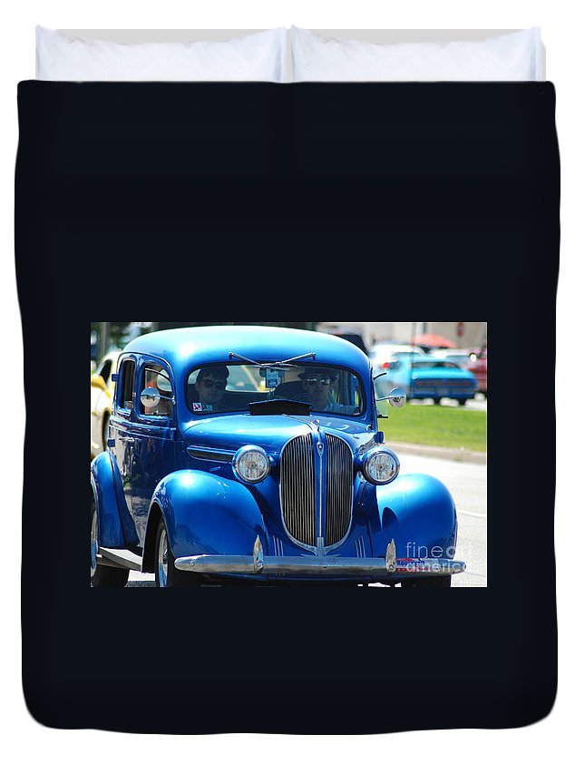 Duvet Cover featuring the photograph Classic Blue by Optical Playground By MP Ray