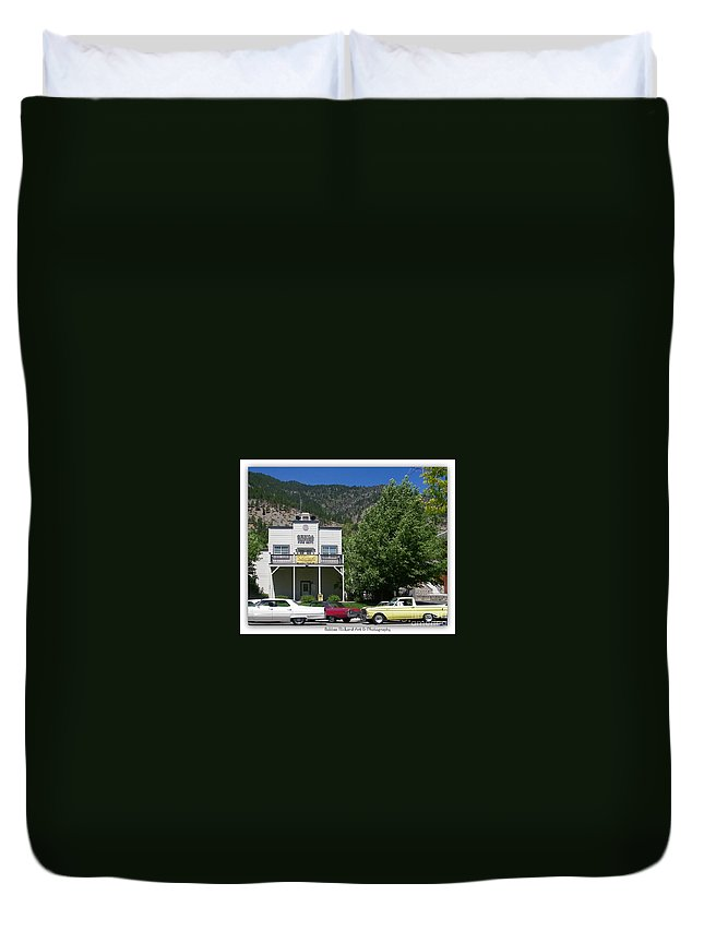 Vintage Prints Duvet Cover featuring the photograph Classic Cars In Genoa by Bobbee Rickard