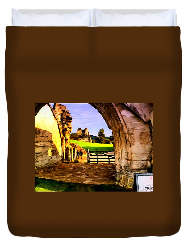 Classic Painting Duvet Cover featuring the painting Classic Painting by Bruce Nutting