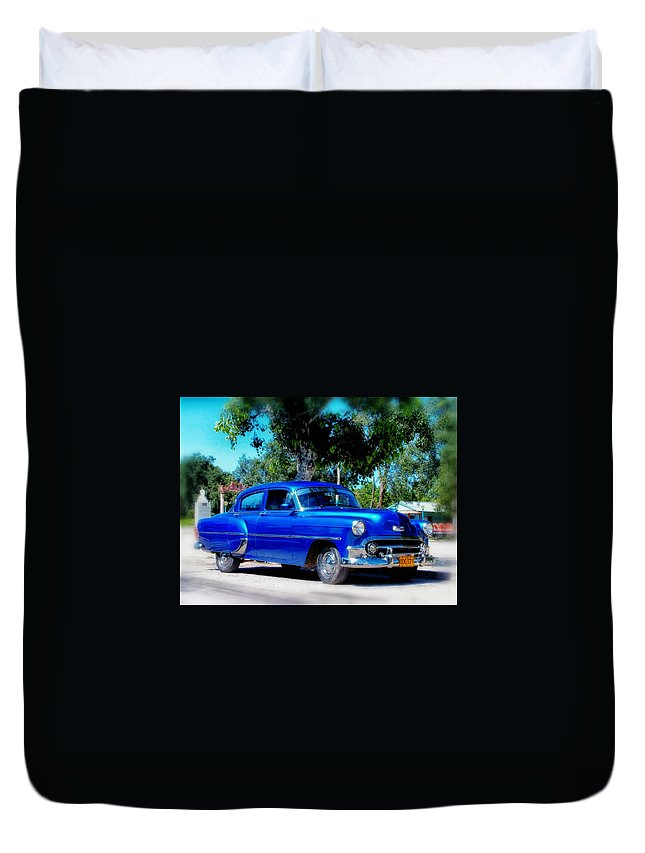 Havana Duvet Cover featuring the photograph Classics Of Cuba by Mountain Dreams