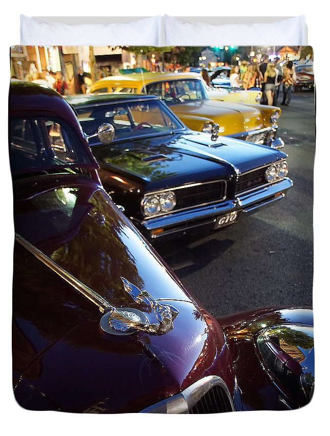 Classics Duvet Cover featuring the photograph Classics On G Street by Mick Anderson