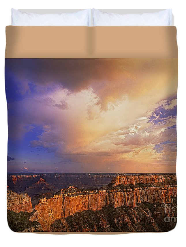 Grand Canyon Duvet Cover featuring the photograph Clearing Storm Cape Royal North Rim Grand Canyon Np Arizona by Dave Welling