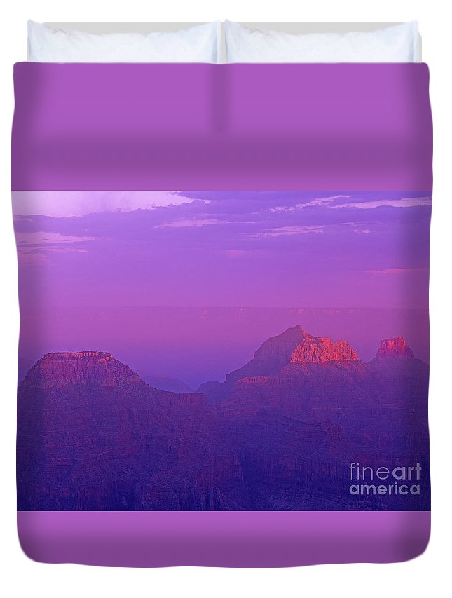 North America Duvet Cover featuring the photograph Clearing Storm From North Rim Grand Canyon National Park by Dave Welling