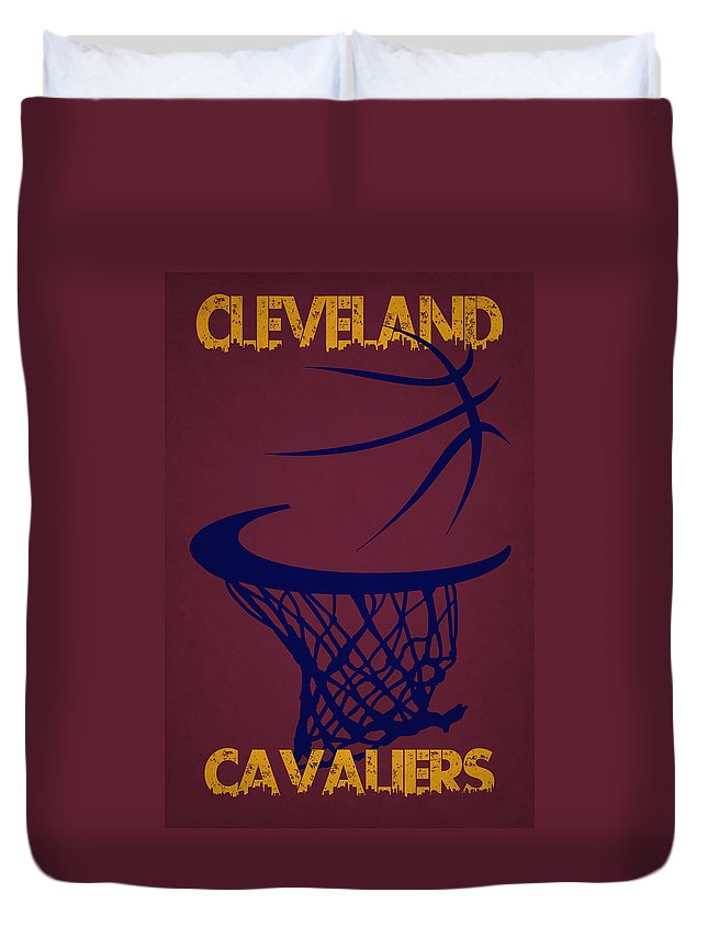 Cavaliers Duvet Cover featuring the photograph Cleveland Cavaliers Hoop by Joe Hamilton