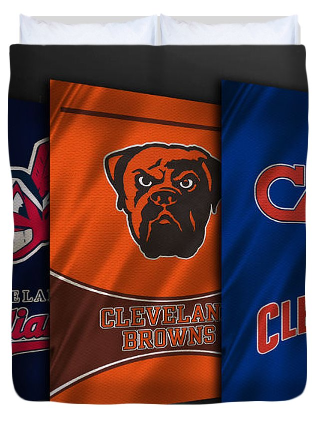 Indians Duvet Cover featuring the photograph Cleveland Sports Teams by Joe Hamilton