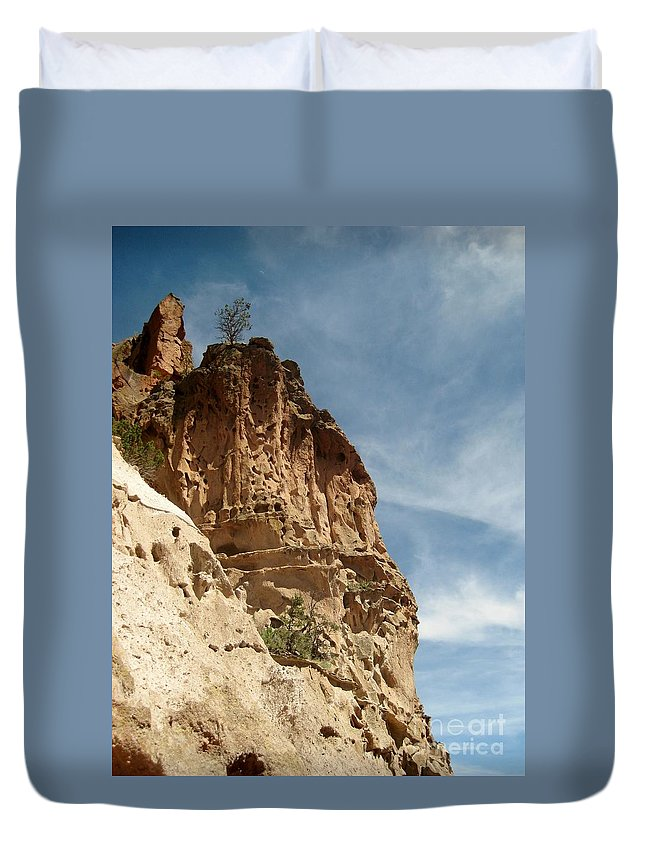 Cliff Dwellings Duvet Cover featuring the photograph Cliff Dwellings by MAK Photography