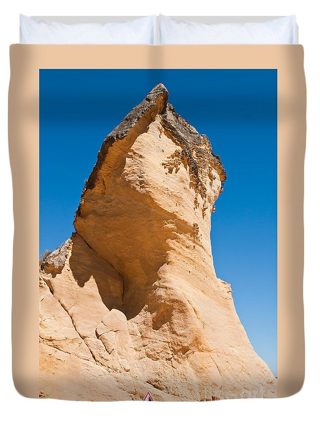 Cliff Duvet Cover featuring the photograph Cliff by Luis Alvarenga