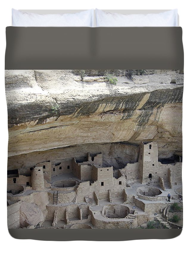 Spruce Tree House Duvet Cover featuring the photograph Cliff Palace Overview by Christiane Schulze Art And Photography