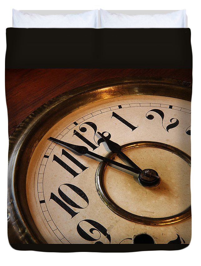 Very Duvet Cover featuring the photograph Clock face by Johan Swanepoel