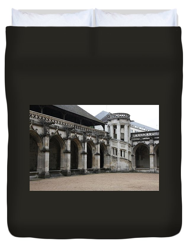 Cloister Duvet Cover featuring the photograph Cloister And Staircase Cathedral Tours by Christiane Schulze Art And Photography