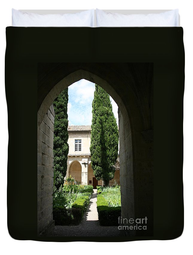 Cloister Duvet Cover featuring the photograph Cloistergarden Chartreuse by Christiane Schulze Art And Photography