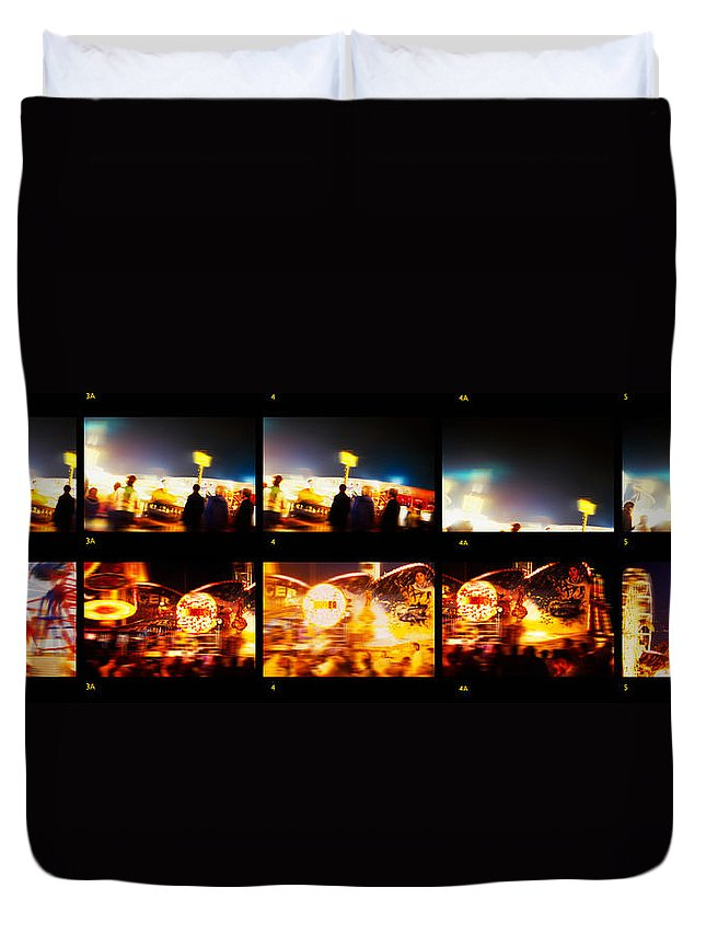 Close Encounters Duvet Cover featuring the painting Close Encounters by Charles Stuart