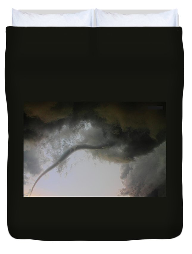 Thunderstorm Duvet Cover featuring the photograph Close Enough by Nzp Chasers
