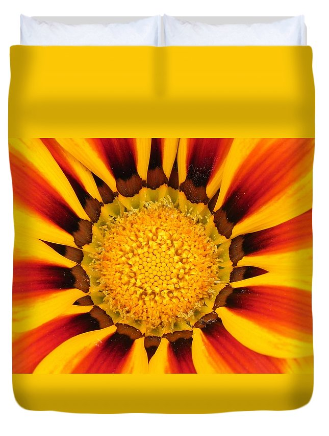 Flower Duvet Cover featuring the photograph Close Up Marigold by FL collection