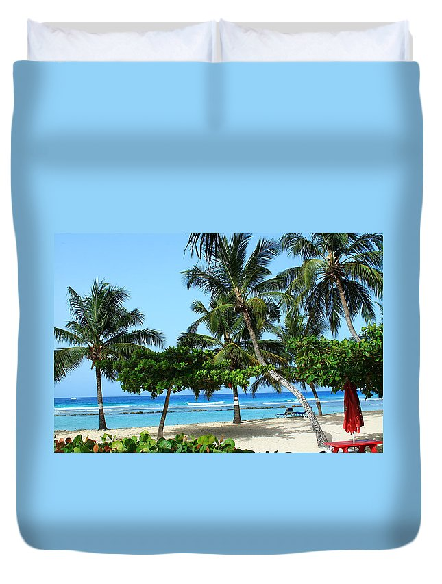 Barbados Duvet Cover featuring the photograph Closed Umbrella by Catie Canetti