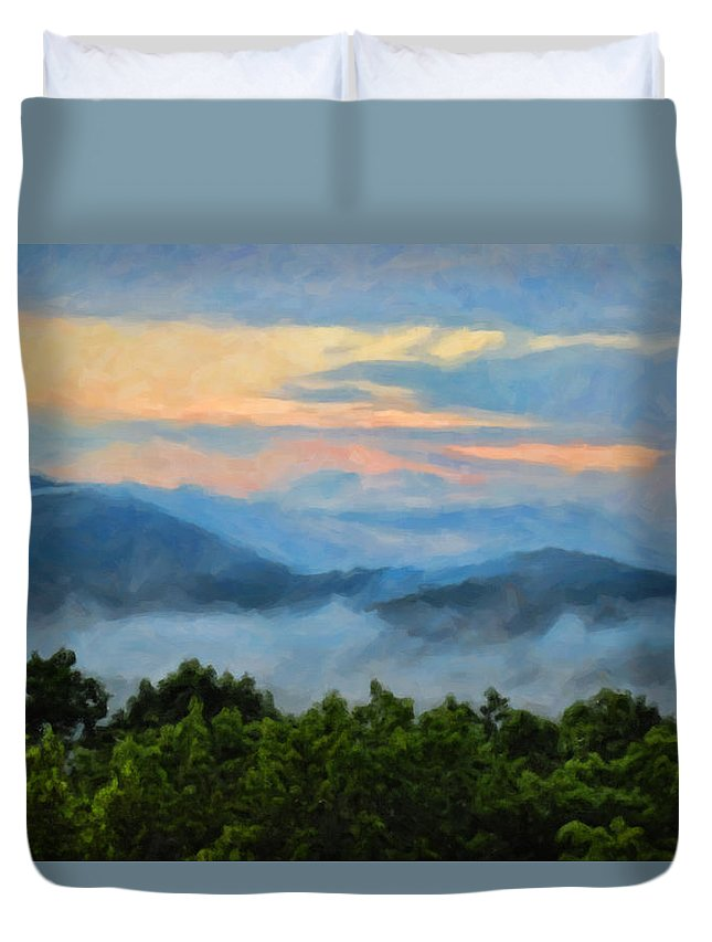 Kenny Francis Duvet Cover featuring the photograph Closer To Heaven In The Blue Ridge Mountains by Kenny Francis