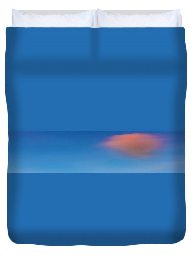 Sky Duvet Cover featuring the photograph Cloud 001 by Agustin Uzarraga