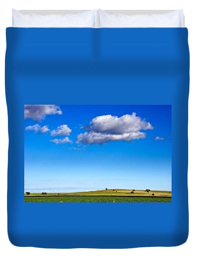 Kansas Duvet Cover featuring the photograph Cloud Nine by Eric Benjamin