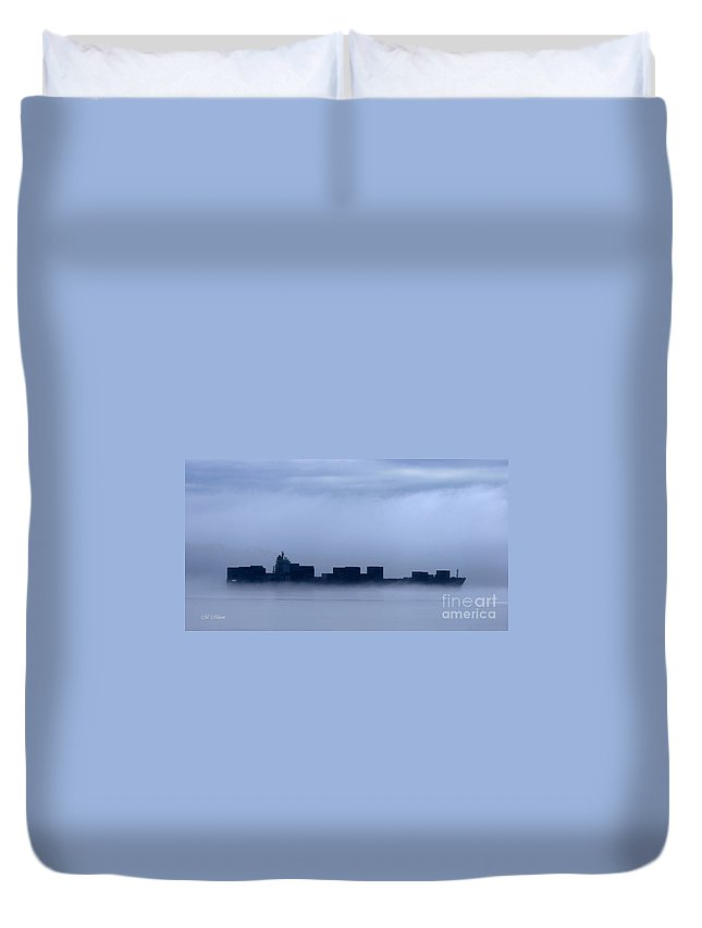 Ship Duvet Cover featuring the photograph Cloud Ship by Tap On Photo