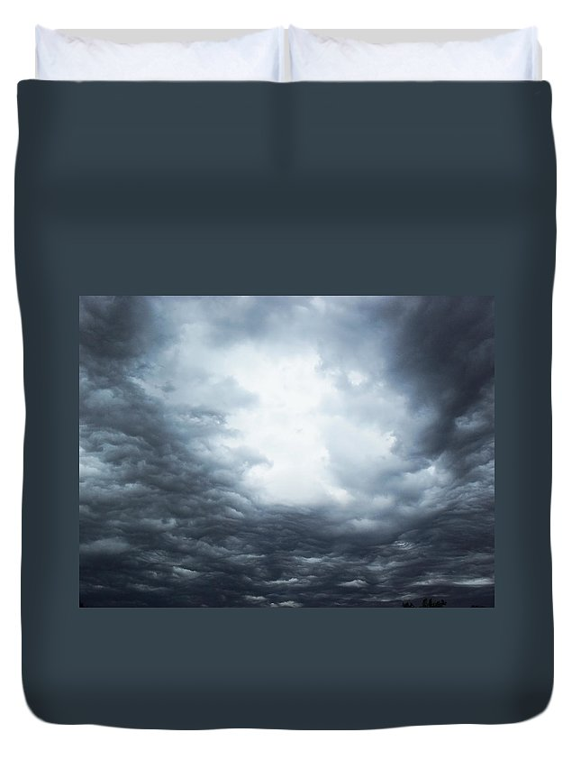 Thunderstorm Duvet Cover featuring the photograph Cloudburst by Sheryl Chapman Photography
