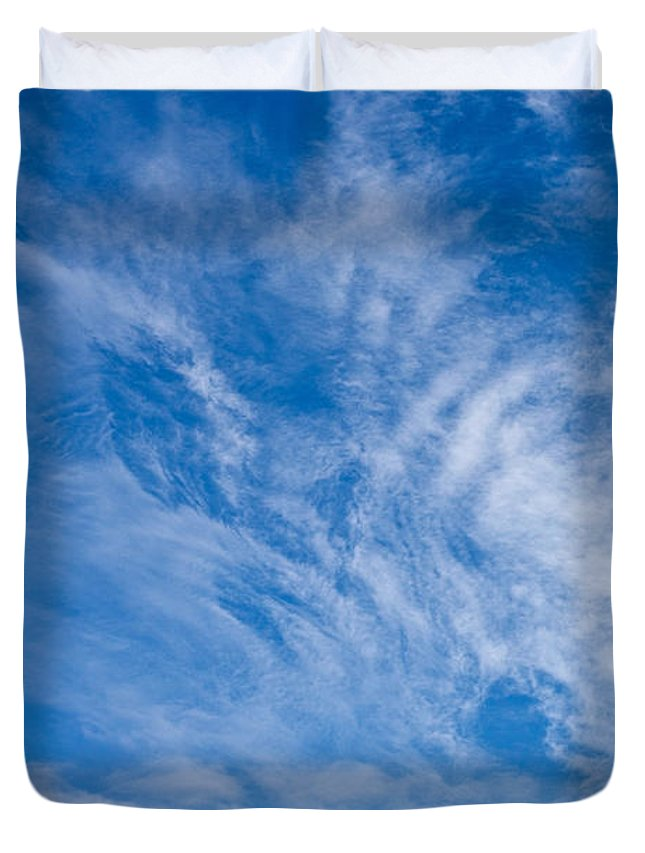 Clouds Duvet Cover featuring the photograph Clouds by Liz Alderdice