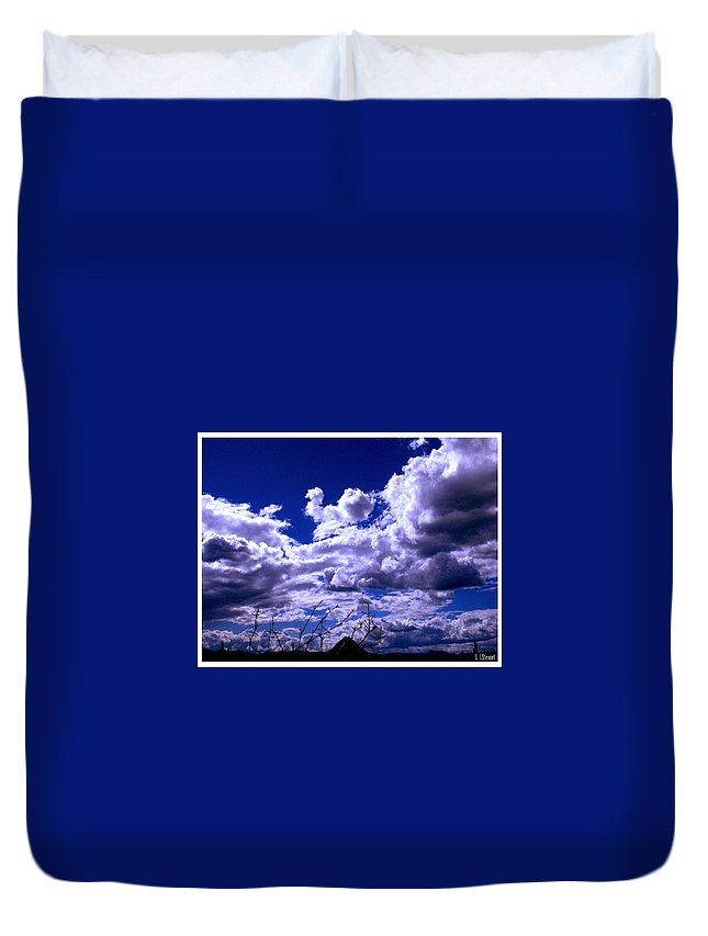 Arizona Duvet Cover featuring the photograph Clouds Over Gavilan Peak by L L Stewart