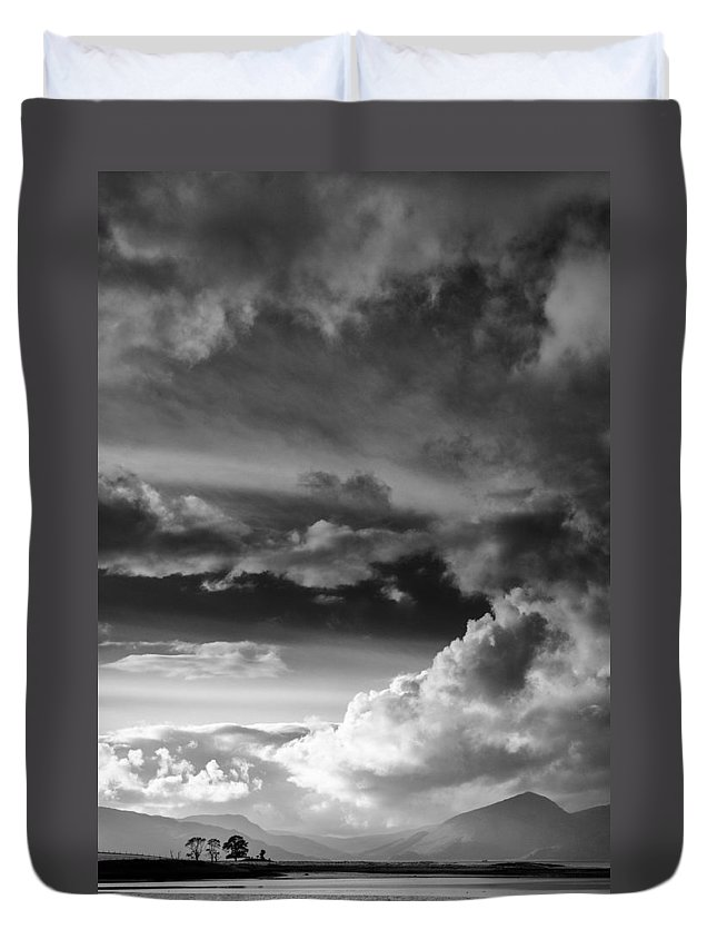 Loch Laich Duvet Cover featuring the photograph Clouds Over Loch Laich by Dave Bowman