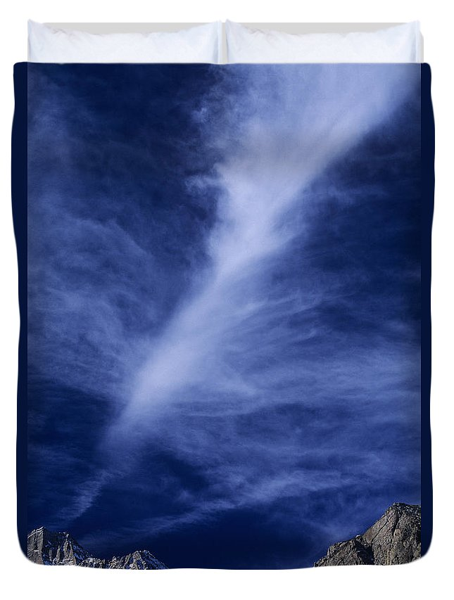 North America Duvet Cover featuring the photograph Clouds Over Middle Palisades Glacier California by Dave Welling