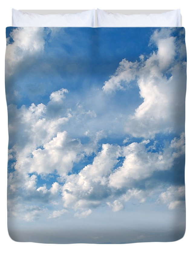 Outdoor Duvet Cover featuring the photograph Clouds Over New Mexico by M E Wood