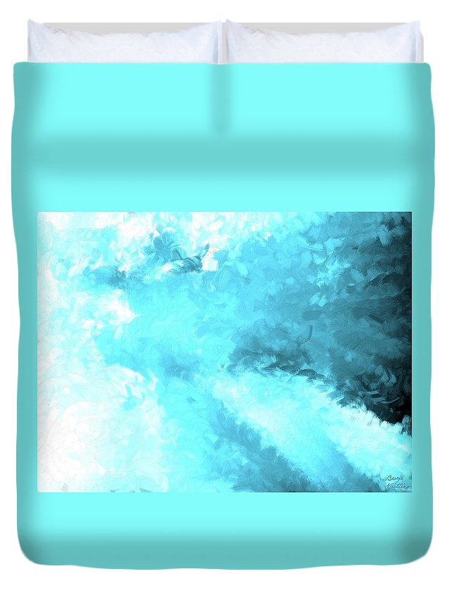Clouds Duvet Cover featuring the painting Clouds Rollin' In by Bruce Nutting