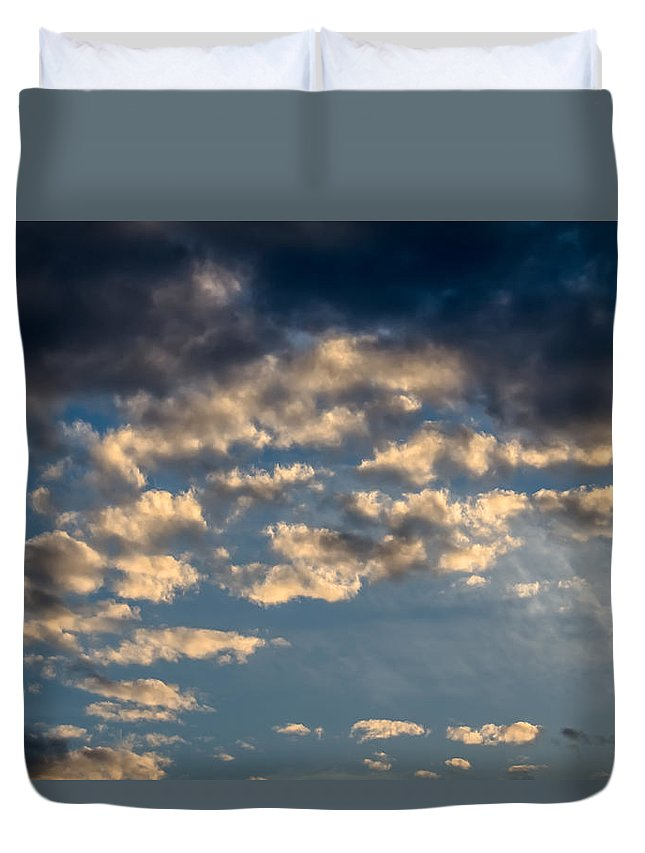 Sky Duvet Cover featuring the photograph Clouds by Sotiris Filippou