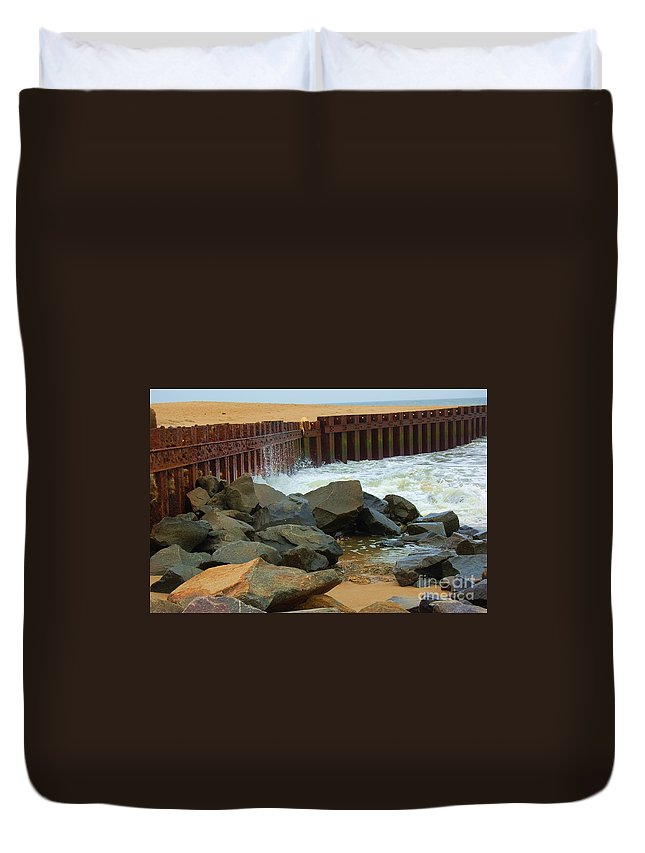 Water Duvet Cover featuring the photograph Coast Of Carolina by Debbi Granruth