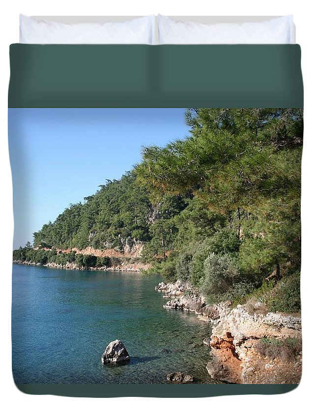 Cove Duvet Cover featuring the photograph Coast To Oren by Tracey Harrington-Simpson