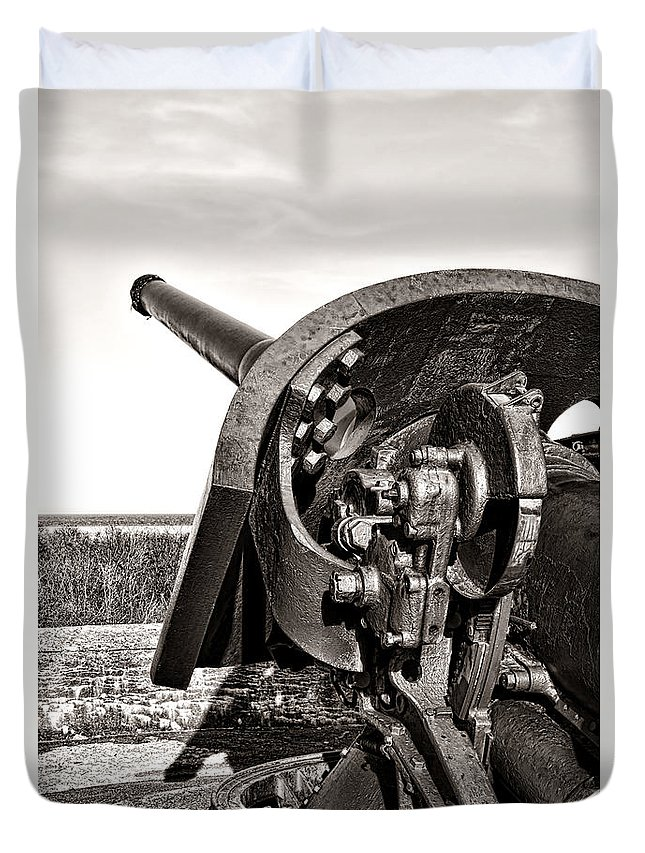 Coastal Duvet Cover featuring the photograph Coastal Artillery by Olivier Le Queinec