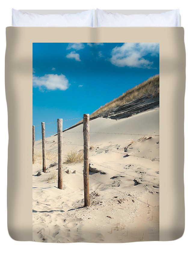 Ature Duvet Cover featuring the photograph Coastal Dunes In Holland 2 by Jenny Rainbow