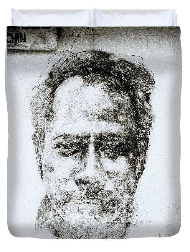 Graffiti Duvet Cover featuring the photograph Urban Art Of Cochin by Shaun Higson
