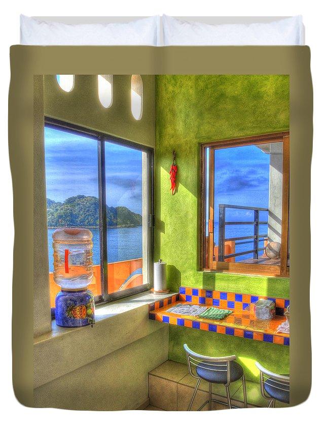 Kitchen Duvet Cover featuring the photograph Cocina Con Vista by Doug Matthews