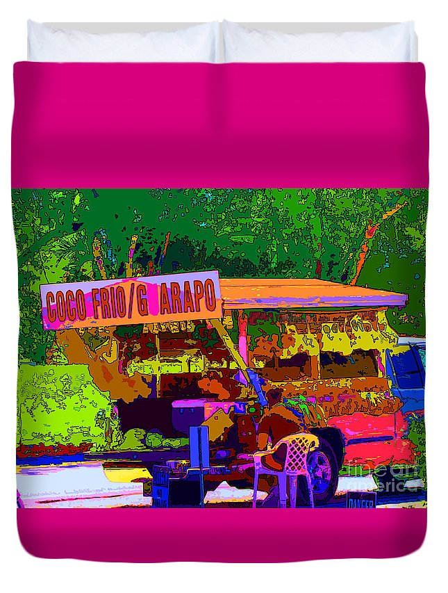 Keri West Duvet Cover featuring the photograph Coco Frio by Keri West