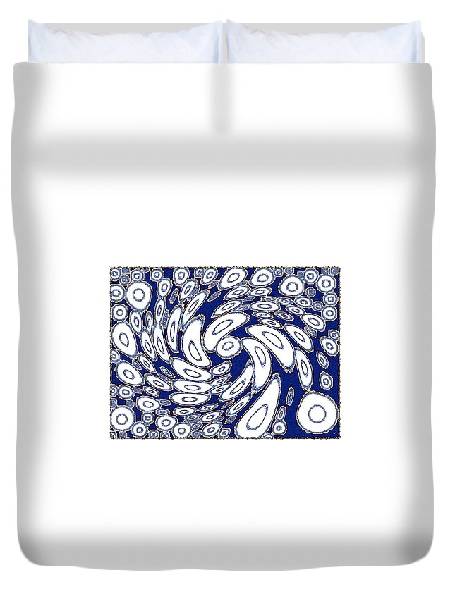 Cohesive Differences Duvet Cover featuring the digital art Cohesive Differences by Will Borden