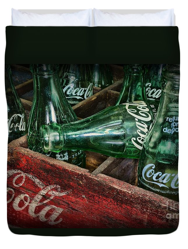 Coke Duvet Cover featuring the photograph Coke Return For Deposit by Paul Ward