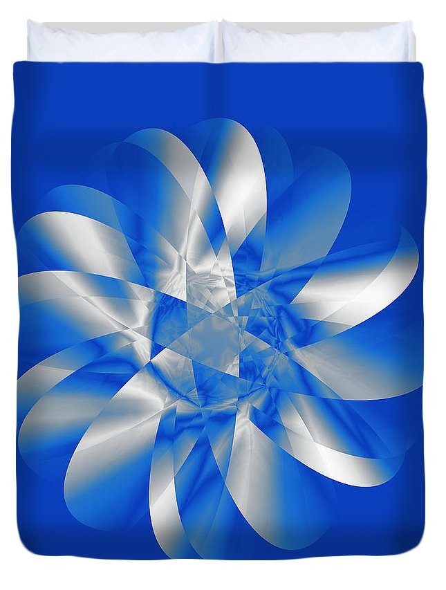 Abstract Duvet Cover featuring the digital art Cold As Ice by Judi Suni Hall