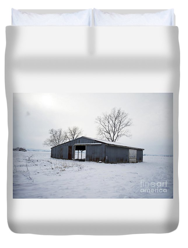 Duvet Cover featuring the photograph Cold Desolation by Luther Fine Art